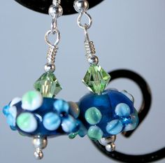 Blue & Green Glass Earrings. Starting at $3 on Tophatter.com!