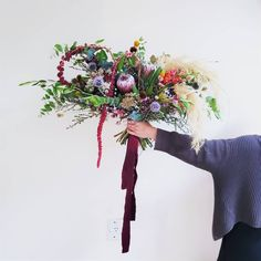 SUMMER WEDDING BOUQUET F l o r a l S t y l i s t  (@pebbleanddot) For Emily ♡ Summer Wedding Bouquets, Wedding Flowers, Grapevine Wreath, Grape Vines, Wreaths, Instagram, Door Wreaths, Vineyard Vines, Deco Mesh Wreaths