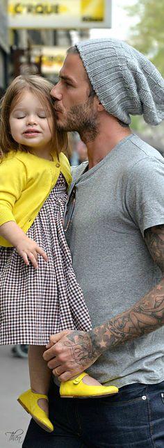 David Beckham & Harper ~ Tнεα