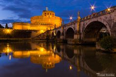 Castel Sant'Angelo, Rome.. Castel Sant'Angelo at the blue hour in Rome, Italy, Europe by Tomáš Vocelka on 500px.