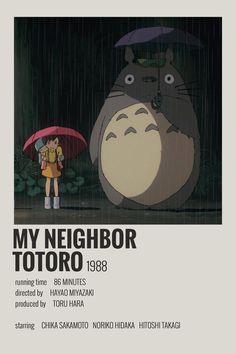 Alternative Minimalist Movie/Show Polaroid Poster - My Neighbor Totoro - 5016 Wallpaper Iconic Movie Posters, Minimal Movie Posters, Movie Poster Art, Film Posters, Cinema Posters, Film Polaroid, Movie Prints, Poster Prints, Poster Wall