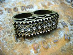 Sterling Silver 2 finger Ring 1 & Half Inches by SinginHoundBeadz, $140.00 JUST LISTED! Use Coupon Code: LUNATIC14 get 30% off anything in the ship that is $15.00 and up!