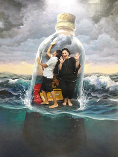Foto - Google Fotos 3d Art Museum, Rayong, Crab Boil, Wall Design, Mermaids, Illusions, Walls, Photo And Video, Park