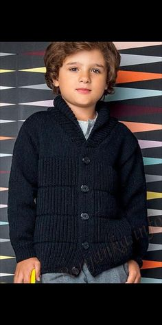 Baby Boy Knitting Patterns, Baby Sweater Knitting Pattern, Crochet Baby Cardigan, Baby Hats Knitting, Knitting For Kids, Newborn Boy Clothes, Newborn Outfits, Kids Outfits, Diy Crafts Knitting