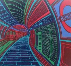 Fine Frames & Fine Art since 1898 - Kensington, London London Underground, Gcse Art Sketchbook, Sketchbook Ideas, Steampunk, U Bahn, A Level Art, London Art, Environmental Art, Urban Landscape