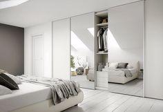 Photo: Wardrobe Doors, Simple House, Credenza, Home Improvement, Loft, Room Decor, Interior Design, Cupboard Ideas, White Bedrooms