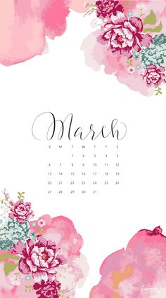 HELLO MARCH : MONTHLY DESKTOP DOWNLOAD (Shannon Kirsten Studio) | Hello  March, March And Wildflowers