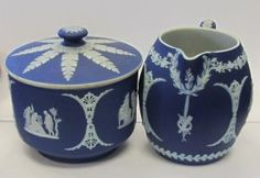 Wedgewood creamer and sugar : Lot 66
