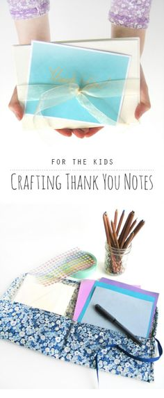 Some great tips and resources for helping children to write and craft their own thank yous...