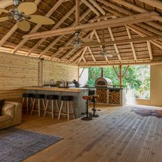 Patio wood decks are great for entertaining your guests this summer as a deck is an outdoor extension of your home. Timber Deck, Wood Decks, Thatched Roof, Pergola, Outdoor Structures, Patio, Entertaining, Decking, Summer