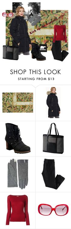 """""""Kick Up the Leaves (Stylishly) With SOREL: CONTEST ENTRY"""" by clschmauder on Polyvore featuring SOREL, Nude, Emilio Pucci and sorelstyle"""