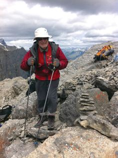 This is just a wonderful story of inspiration as 95-year-old Richard Guy ascends Ha Ling Peak.