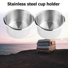 Suitable for: RV, Yacht, etc. 2 X Stainless Steel Cup Holder. We maintain high standards of excellenceand. Boat Cup Holders, Drink Holder, Stainless Steel Cups, Marine Boat, Rv Campers, Trucks, Ebay, Truck