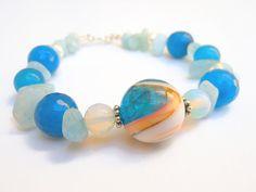 OOAK Aquamarine with Jade Shell Pearl and by JoJosjewellerydesign