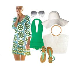 green theme resort wear for our anniversary st pattys day