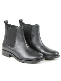 Wills vegan shoes!! YASSS Vegan Vegetarian Non-Leather Womens Flat Chelsea Boots Black