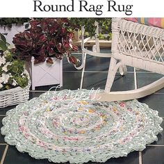 FREE RAG RUG CROCHET PATTERN | Easy Crochet Patterns