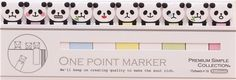 cute funny panda slim bookmark stickers sticky notes by Mind Wave 3