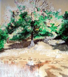 Sunlit Tree Plein Air Landscape