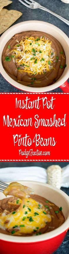 The best way to celebrate the countdown to Cinco de Mayo is to focus on some of my favorite Mexican recipes, like these Smashed Pinto Beans. via /c2king/