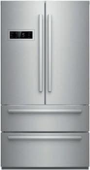 Bosch B21cl80sns 36 Inch 4 Door French Door Refrigerator With 4 Adjustable Glass S French Door Refrigerator Counter Depth French Door Refrigerator French Doors