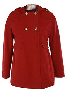 Tommy Girl Juniors Twill Double Breasted Trench Coat (XL, Cardinal Red)