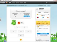 Duolingo's a great idea, great site, great interface. Here's the dashboard once you're signed up....