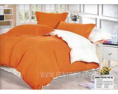 Lenjerie de pat bumbac satinat Casa New Fashion UNI portocaliu si alb Comforters, Textiles, Satin, Blanket, Bed, Home, Creature Comforts, Blankets, Stream Bed