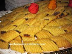 makrout au four semoule farine beurre huile et jaune d'oeuf