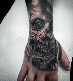 90 Zombie Tattoos For Men Masculine Walking Dead Designs - 538x600 ...