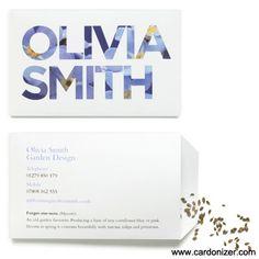 Creative Business Card For Olivia Smith Carte De Visite Design Dimage Marque