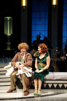 Oregon Shakespeare Festival. ANIMAL CRACKERS (2012): Brent Hinkley and Kate Mulligan. Photo: Jenny Graham.