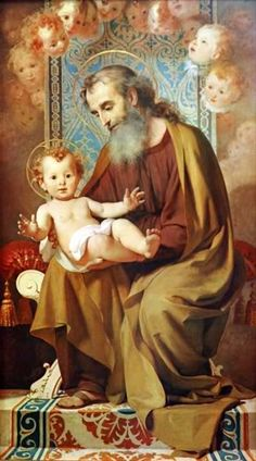 Camera Lucida: St. Joseph and the Infant Christ - Correction of previous painting of Joseph