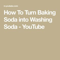 In another episode we will talk about 50 ways to use Washing Soda or Soda Ash .or Sodium Carbonate, etc. Today we jus. Survival Videos, Washing Soda, Baking, Youtube, Food, Juice, Bakken, Bread, Meals