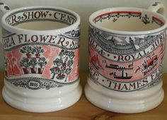 Emma Bridgewater 2013 Chelsea Flower Show 0.5 Pint Mug and Diamond Jubilee Flotilla 0.5 Pint Mug