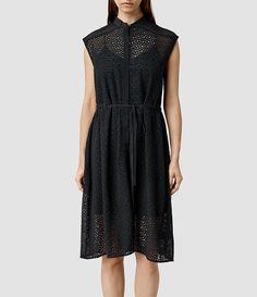 Women's Glesni Waist Dress (Black) -