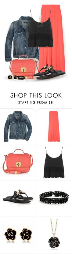 """""""Flip Flops"""" by jiabao-krohn ❤ liked on Polyvore featuring J.Crew, Fendi, Topshop, Tory Burch and DANNIJO"""