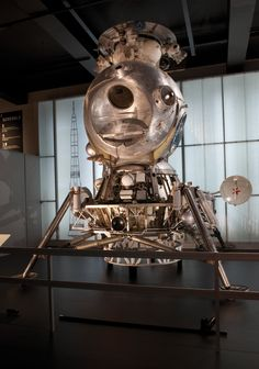 The LK-3 lunar lander (engineering model, 1969) in the Cosmonauts exhibition