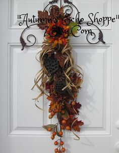FALL DECOR Door Swag...Harvest Door Wreath...Seasonal Fall Door Decor... Harvest Decor...Rustic Country Decor...Thanksgiving Decor by AutumnsEchoShoppe on Etsy