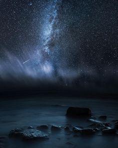 A dark night in Meri-Pori Finland. by mikkolagerstedt http://ift.tt/1WW7WCc