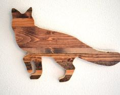 Rustic Bear Wall Silhouette Rustic Home Decor by MintageDesigns