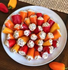Appetizer Idea: PARTY POPPERS (Make Ahead w/ only 5 Ingredients) Party Poppers (stuffed mini peppers recipe) Easy appetizer idea! Easy Make Ahead Appetizers, Appetizers For A Crowd, Easy Appetizer Recipes, Food For A Crowd, Easy Meals, Dip Appetizers, Appetizer Ideas, Easy Appetizers For Party, Appetizers For Christmas Party