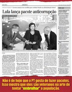 LÁÁÁÁ EM 2005 - Lula lança pacote anticorrupção