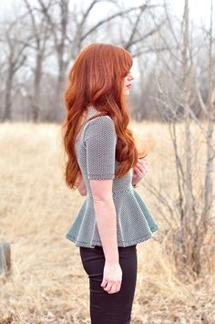 Long red hair love! Not to mention this pic leads to a blog about how to be a red head haha