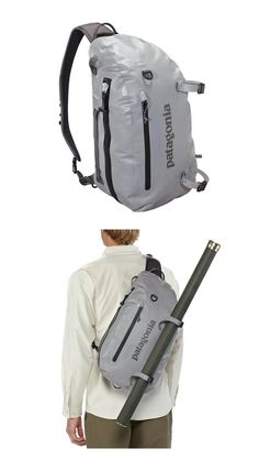 Patagonia Stormfront sling 20L pack.  Perfect for carrying your potato gun on the go.