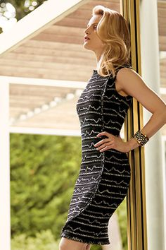 Reinvent classic glamour with modern dresses from St. John.
