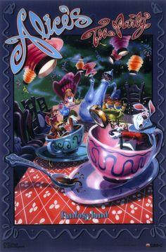 #Disney_Attraction_Posters #FANTASYLAND #alice_in_wonder_land #東京ディズニーランド #ファンタジーランド #アリスインワンダーランド