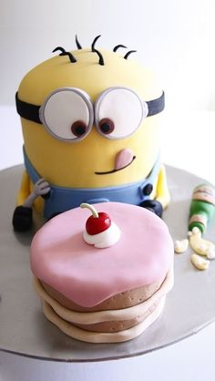 Minion Birthday Cake HD iPhone Wallpaper