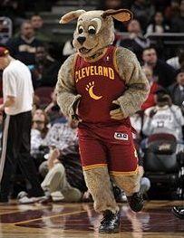 Cleveland Cavaliers mascot, Moondog.
