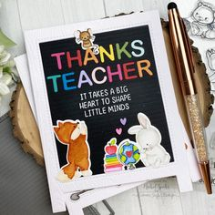 Letterboard Shaped Cards (Mama Elephant)ME_LetterBoardShapedCards_IG3 Cool Cards, Diy Cards, Thanks Teacher, Mama Elephant, Shaped Cards, Purple Butterfly, Love Is All, Letter Board, Cardmaking